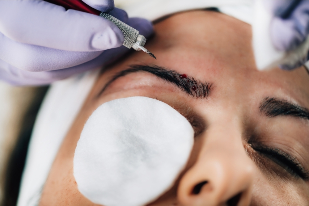 Do all microbladed brows scab